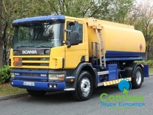 UK Truck Export Scania 94.220 4x2 13,000 litre fuel tanker for sale comvex