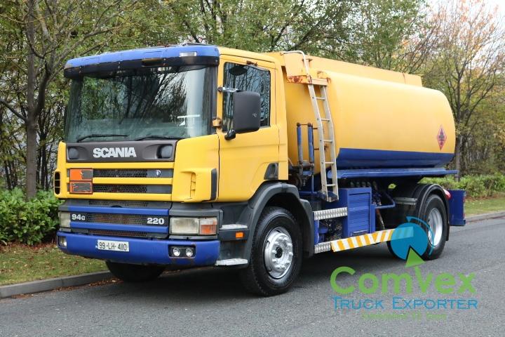 UK Truck Export Scania 94.220 4x2 13,000 litre fuel tanker for sale comvex