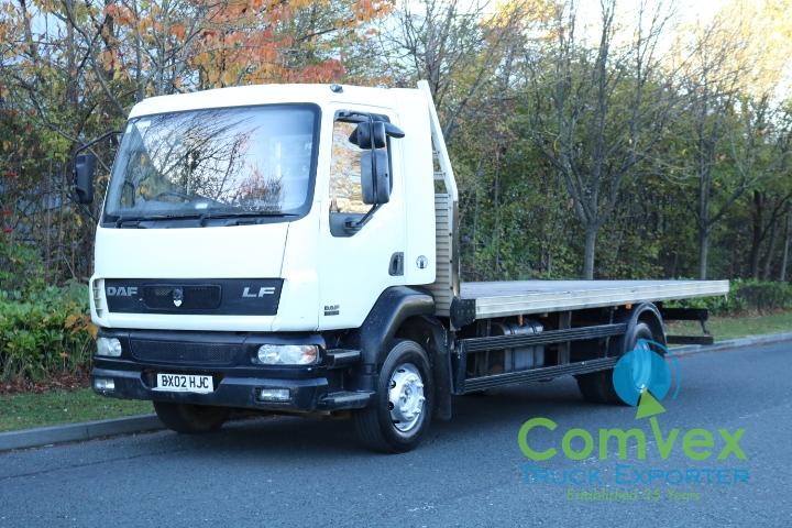 UK Truck Export DAF LF55.180 Flatbed Import Zambia Zimbabwe Malawi for sale comvex