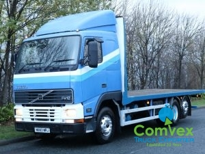 Volvo FH12.380 Version 1 Flatbed Sleeper Rearlift 6x2/4 For Sale Export Comvex UK