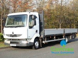 UK Truck Export Renault Midlum 180 Dropside for sale comve