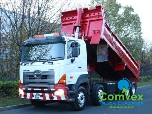 Hino 3241 Thompson Steel Tipper for sale export comvex zambia