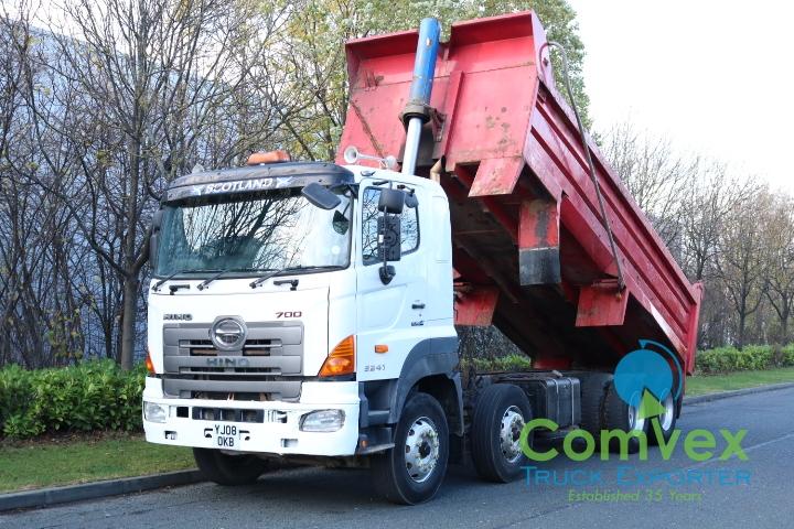 Hino 3241 8x4 Steel Tipper For Sale Export Comvex UK
