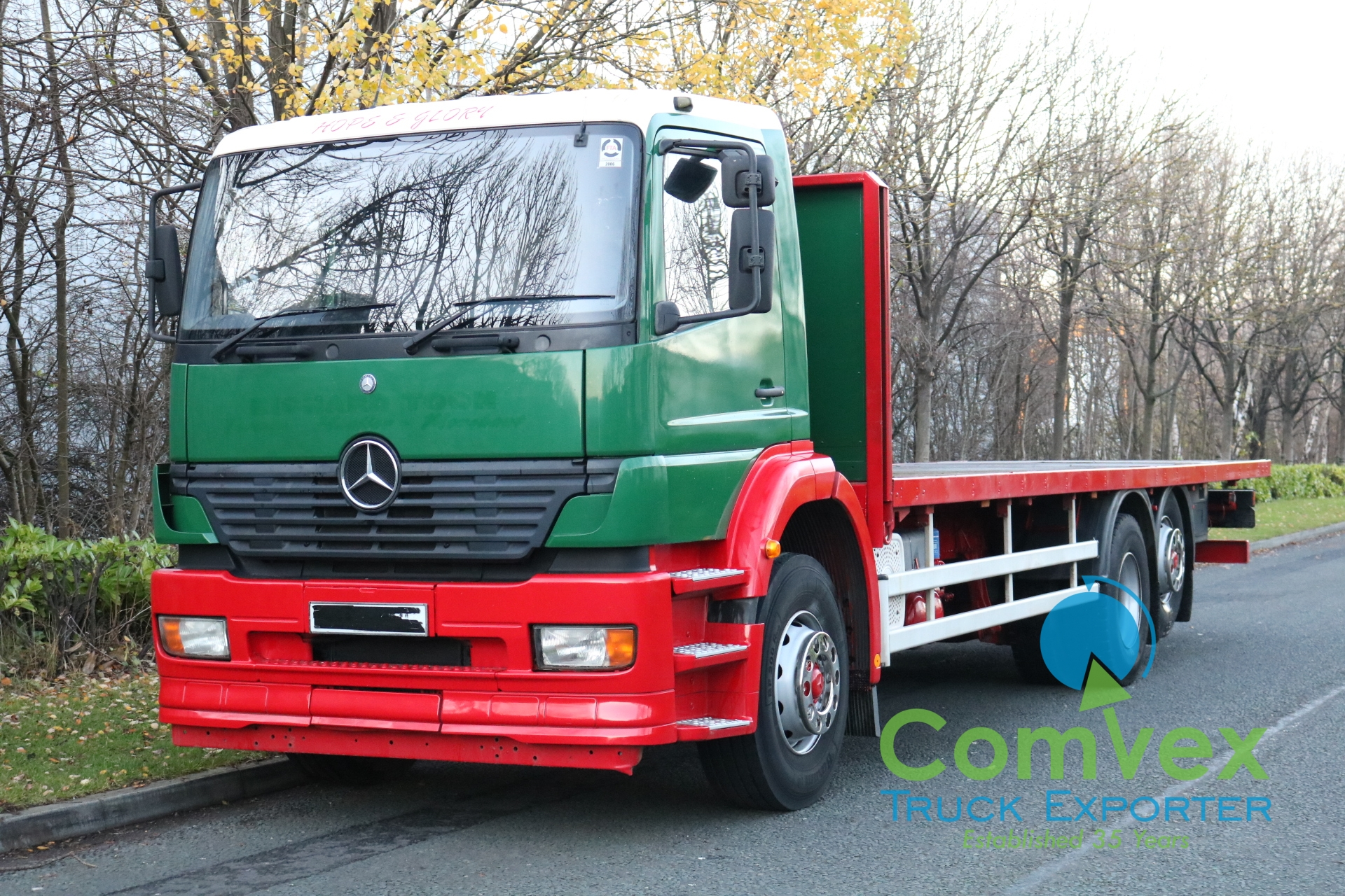 Mercedes Atego 2528 6×2 Rearlift Flatbed (2004)