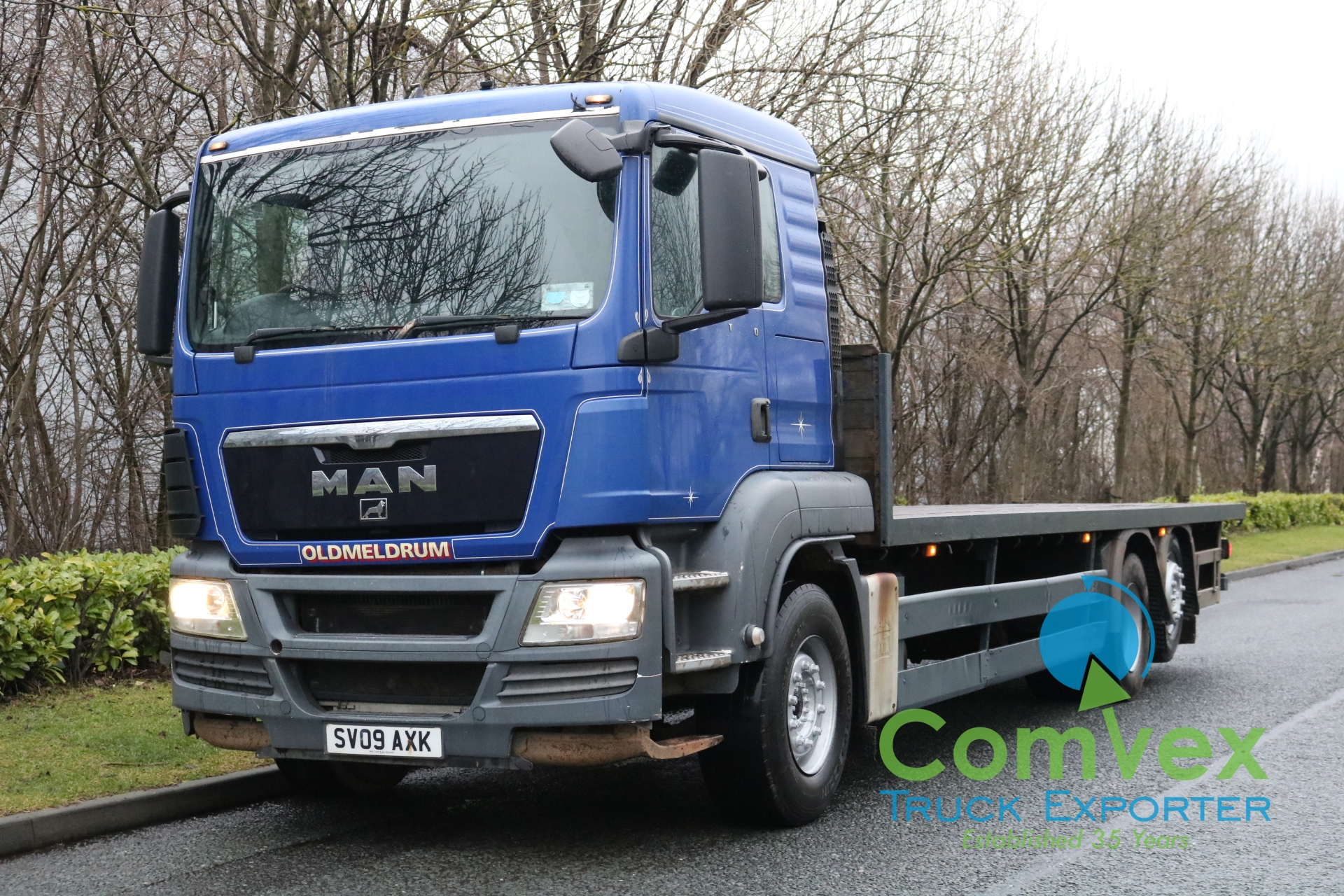 MAN TGS 26.400 REARLIFT FLATBED (2009)