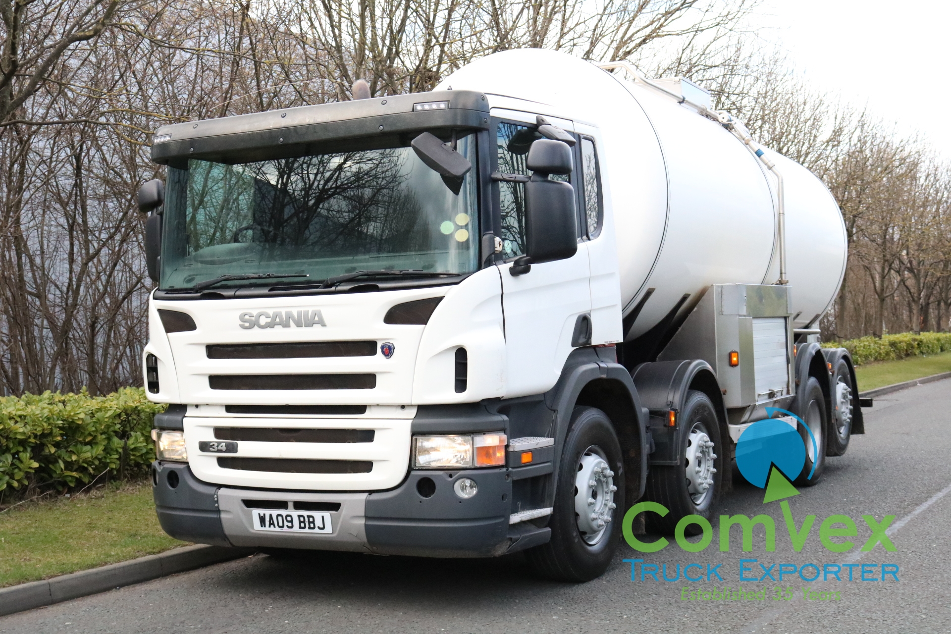 Scania P340 8×2 20,000L Stainless Tanker (2009)